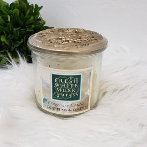 Body Fantasies Fresh White Musk Candle Discontinued Hard to Find Sealed